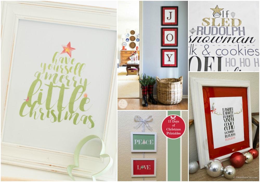 Printable Christmas Wall Art You're Going to Love!