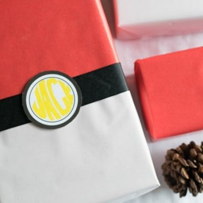 DIY Pokemon Gift Wrap & Pokemon Gift Ideas