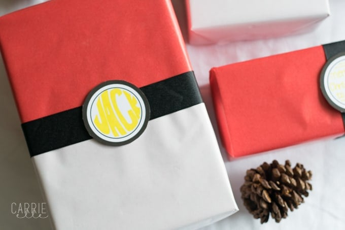 DIY Pokemon Gift Wrap