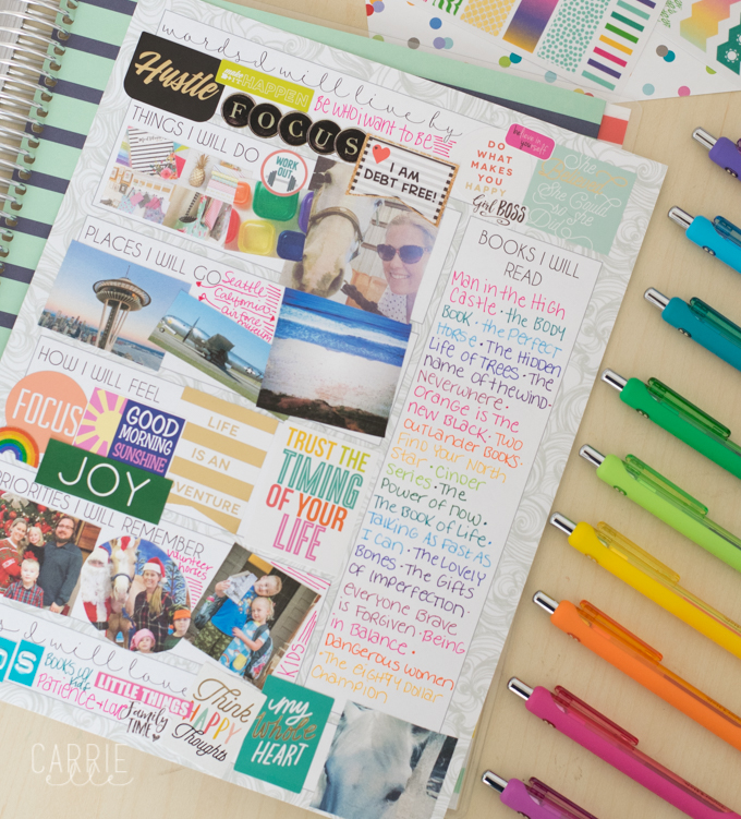 Printable Vision Board Template