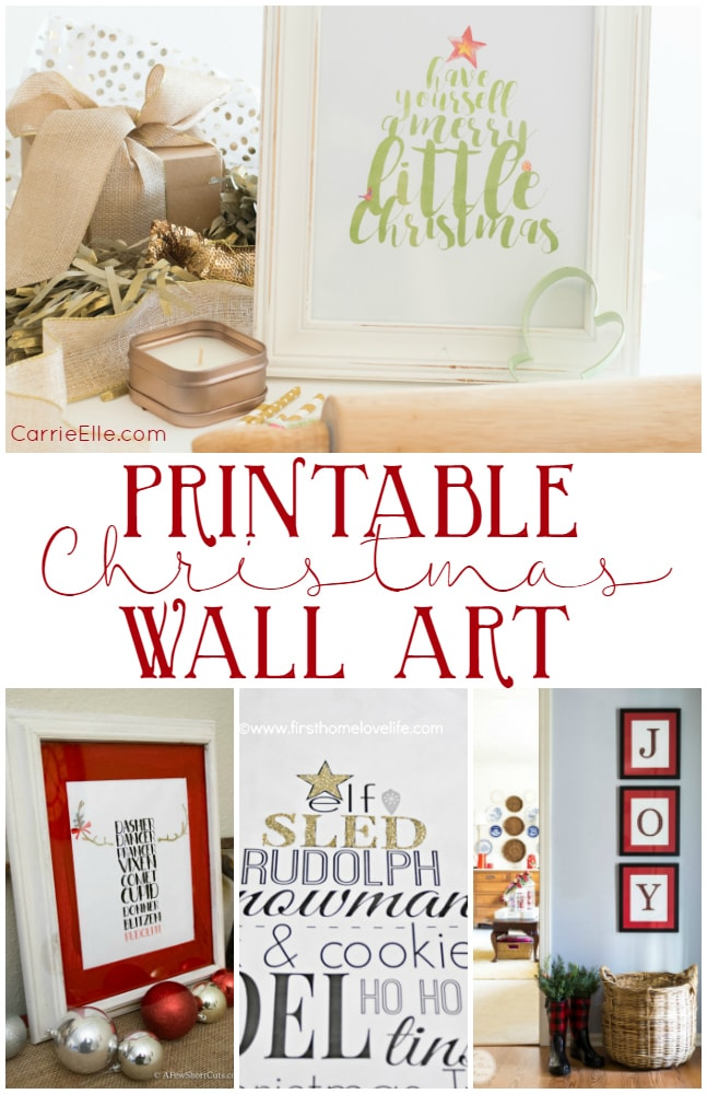 Pretty Printable Christmas Wall Art