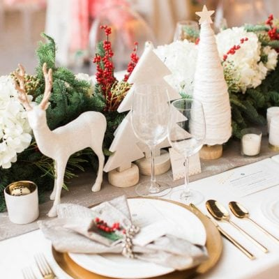 Beautiful Christmas Tablescapes made Entirely from Target Products