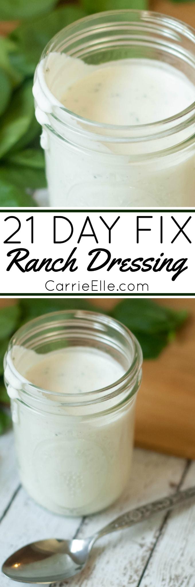 21 Day Fix Ranch Dressing Recipe