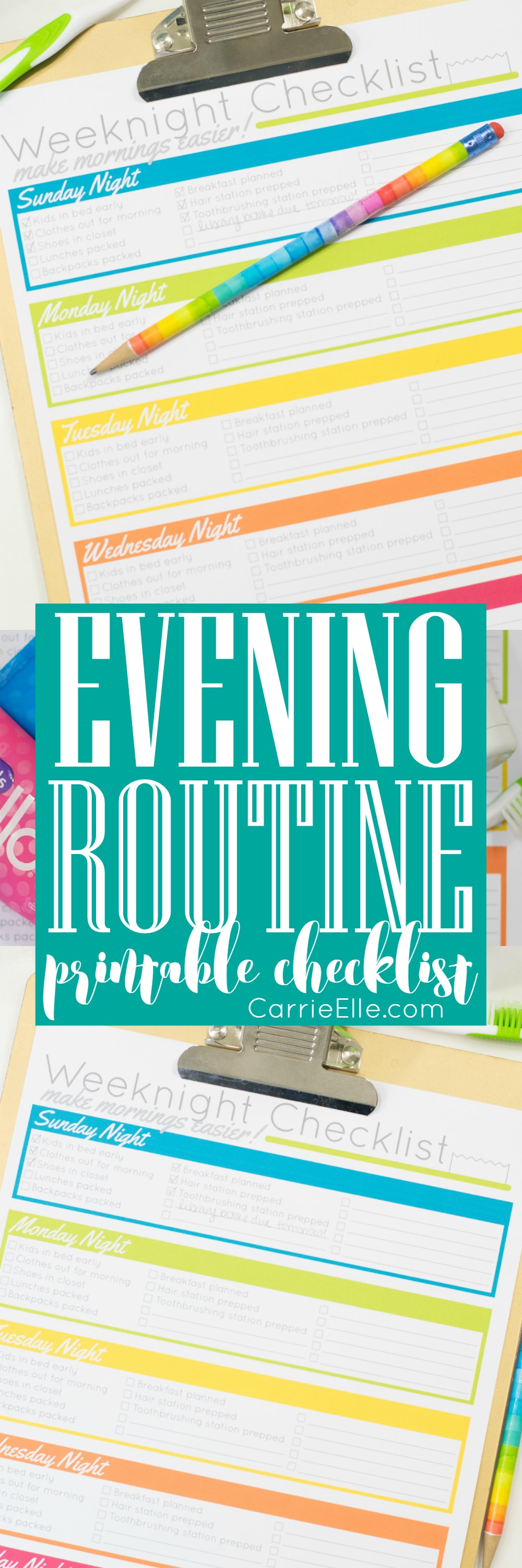 Evening Routine Checklist