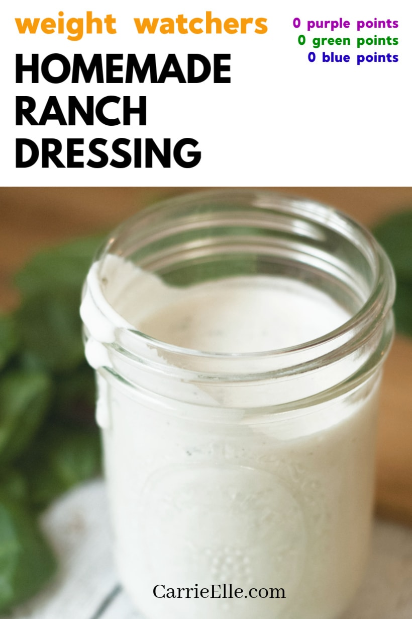 WW Homemade Ranch Dressing 0 Points