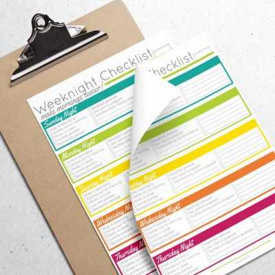 Make Mornings Easier with an Evening Routine Printable Checklist