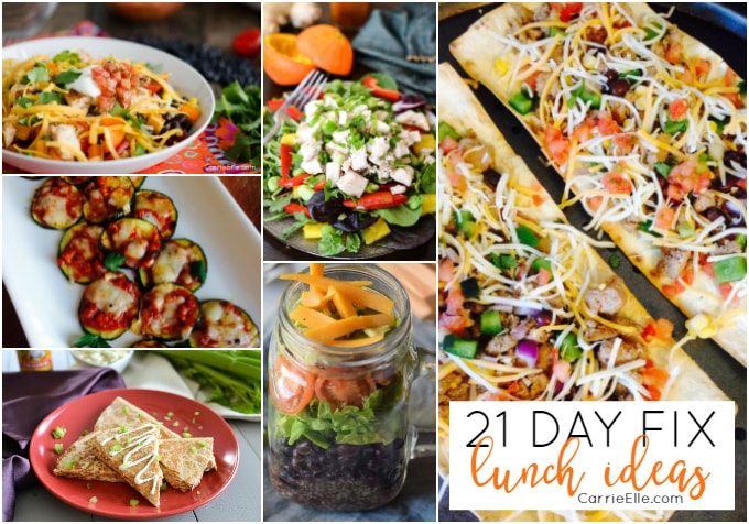 21 Day Fix Lunch Ideas - Carrie Elle