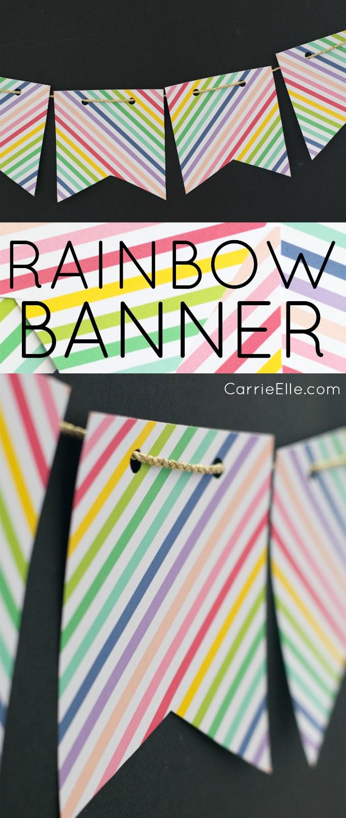 Printable Rainbow Banner