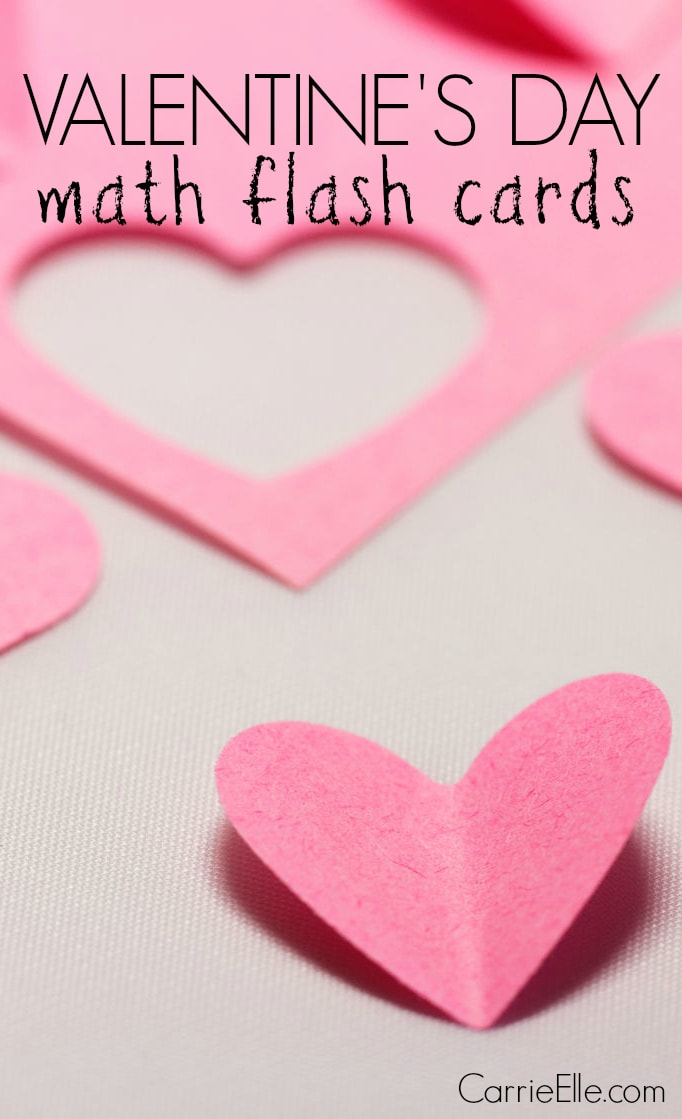 Valentine's Day Math Flash Cards
