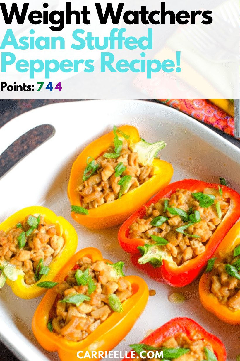 These 21 Day Fix Asian Stuffed Peppers are full of flavor and good for you, too. The whole family will love this tasty recipe!