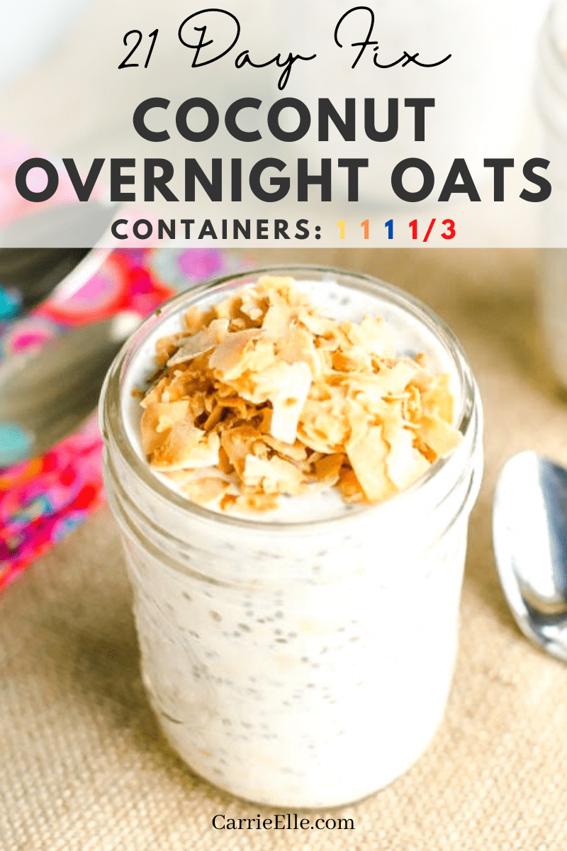 These 21 Day Fix Coconut Overnight Oats are the perfect way to start your day. Packed full of flavor and healthy ingredients!