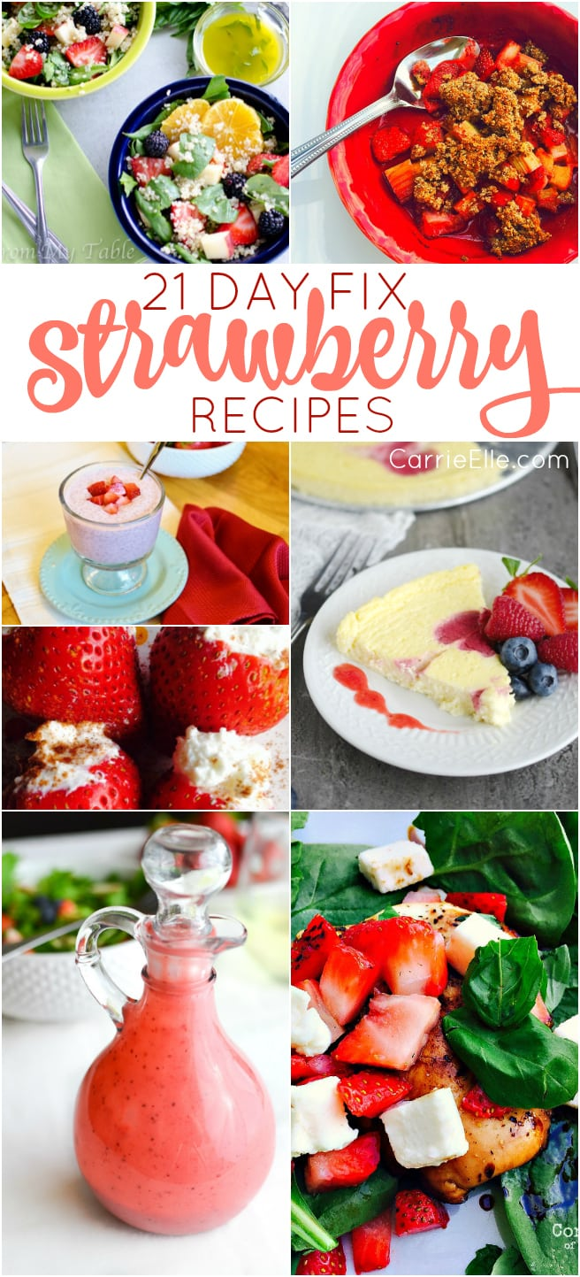 21 Day Fix Strawberry Recipes