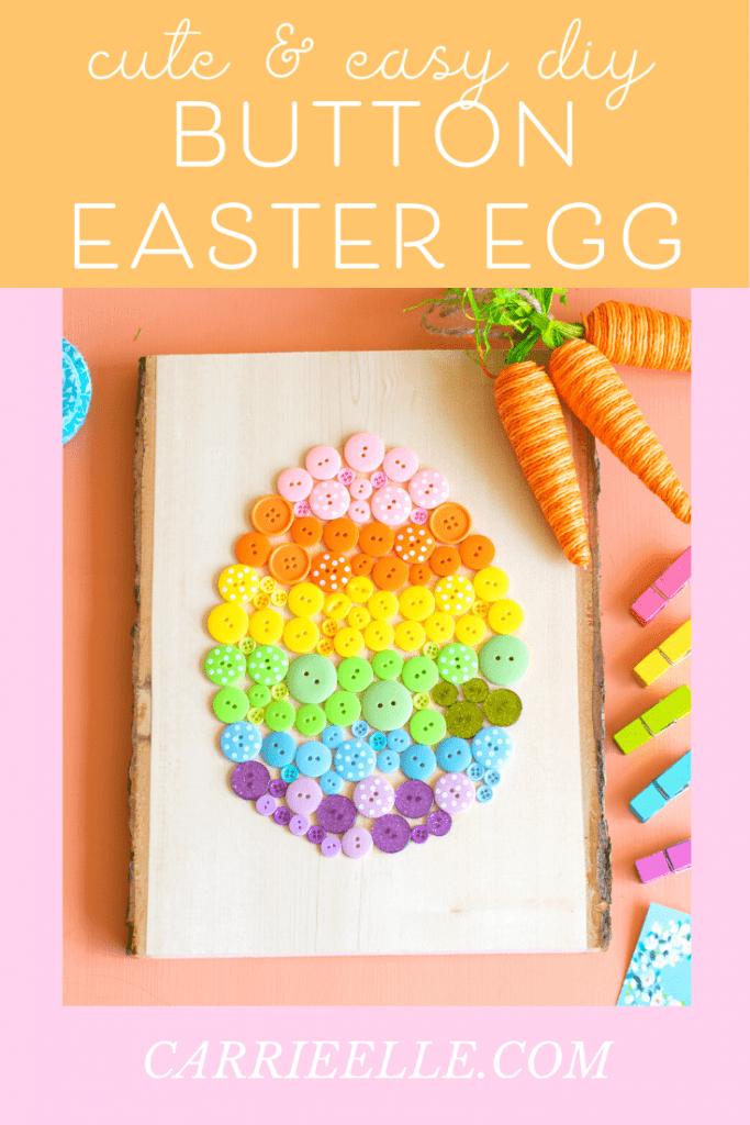 DIY Button Easter Egg CarrieElle.com