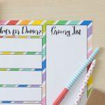 Rainbow Meal Planning Printable