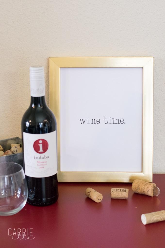 Wine Time Printable