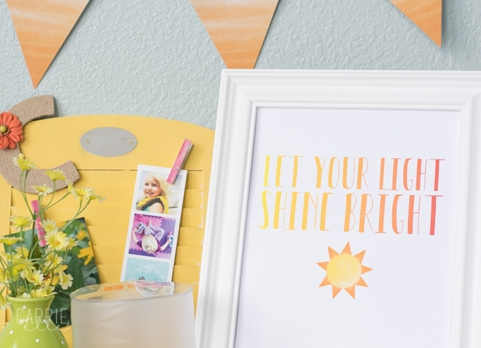Let Your Light Shine Bright Printable Carrie Elle
