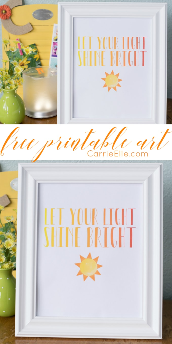 Let Your Light Shine Bright Printable