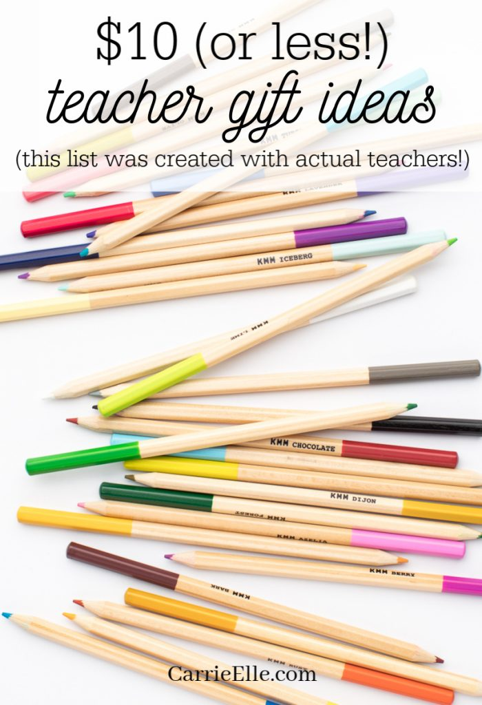 $10 Teacher Gift Ideas