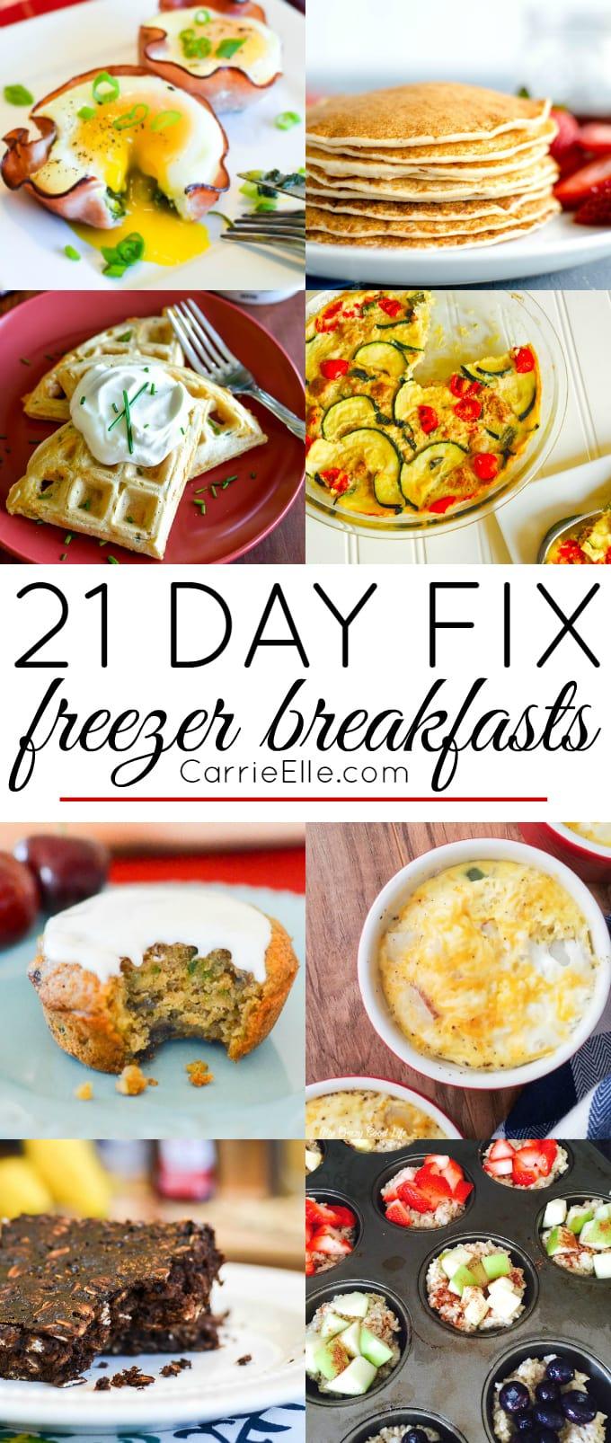 21 Day Fix Freezer Breakfasts