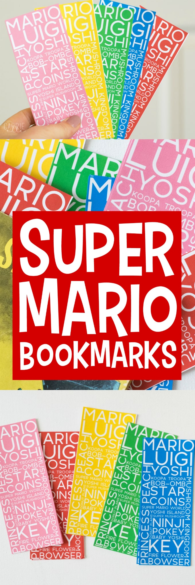 Printable Super Mario Bookmarks