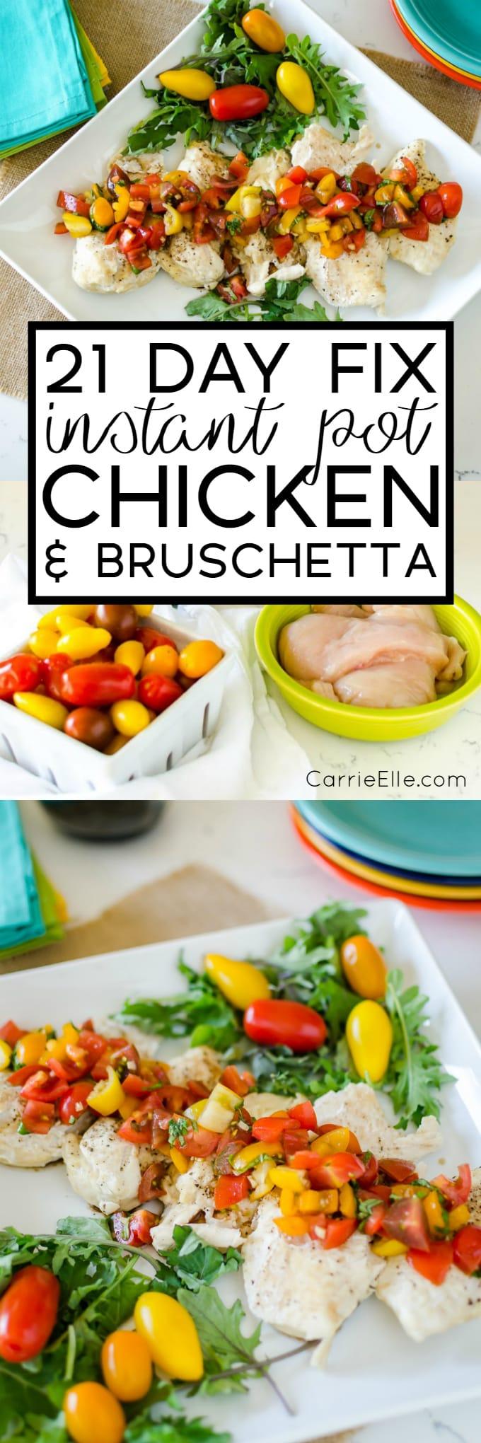 21 Day Fix Instant Pot Chicken Bruschetta