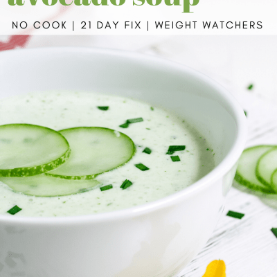 21 Day Fix No-Cook Soup: Chilled Cucumber Soup with Avocado and Fresh Dill