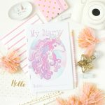 Printable Diary Template: Unicorn