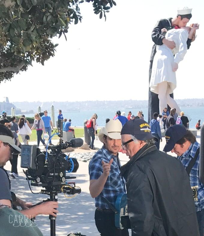 Brad Paisley Shooting Music Video