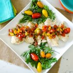 Instant Pot Chicken with Bruschetta Topping