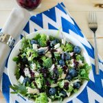 Kale Blueberry Salad with Blueberry Vinaigrette