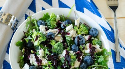21 Day FIx Kale Blueberry Salad