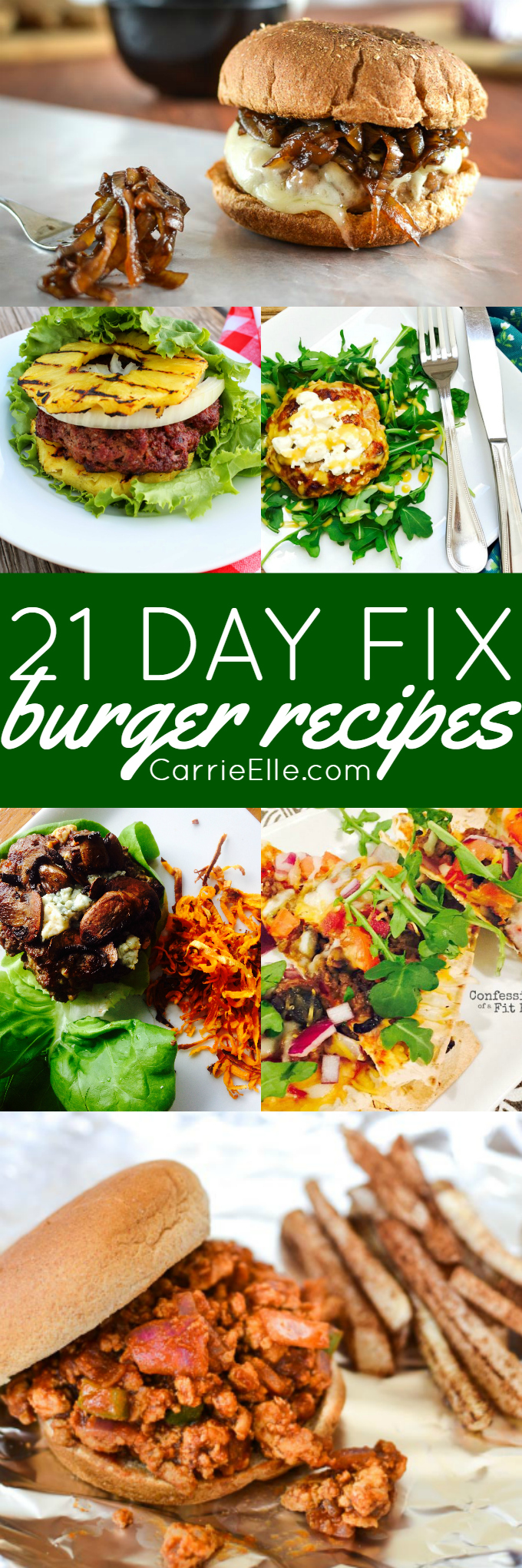 21 Day Fix Burger Recipes