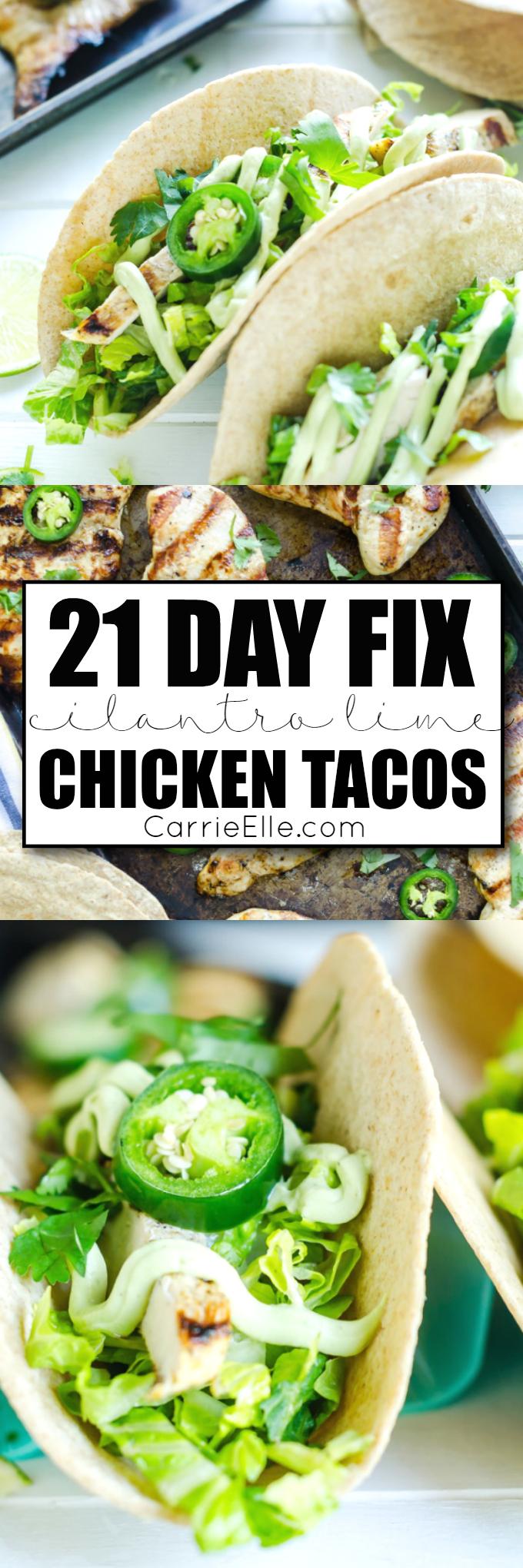 21 Day Fix Chicken Tacos