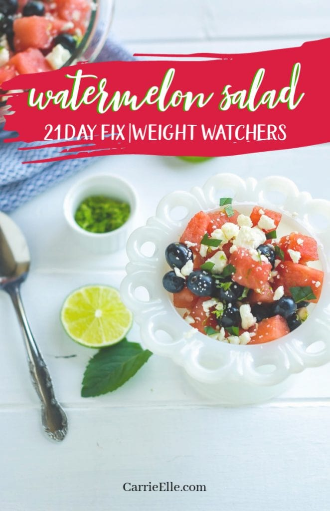 21 Day Fix Weight Watchers Watermelon Salad