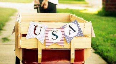 Printable USA Banner
