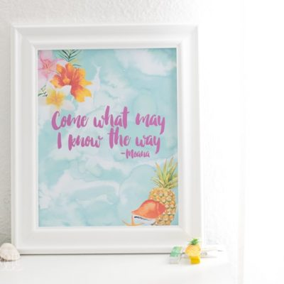 Moana Printable Wall Art