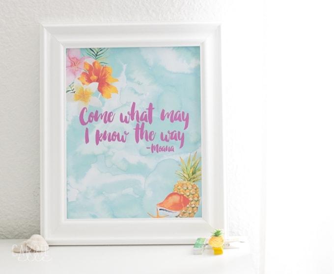 Printable Moana Wall Art