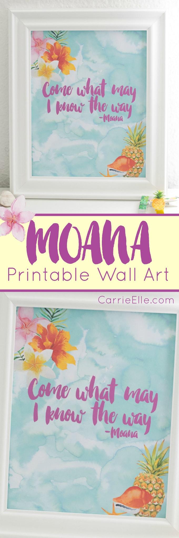 Moana Printable Wall Art