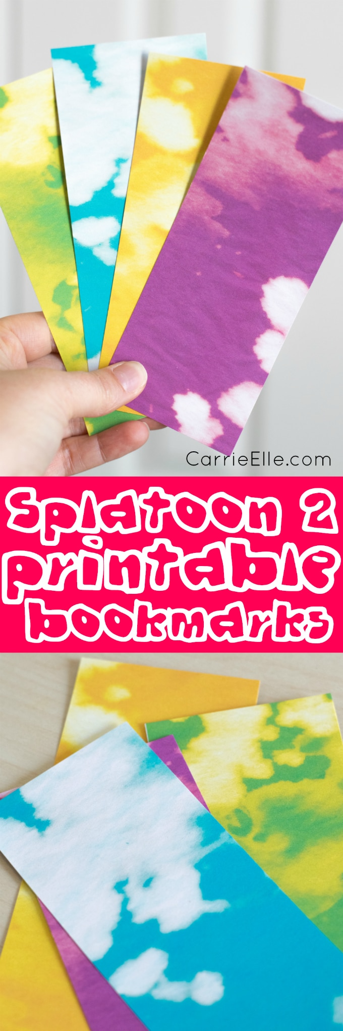 Splatoon Printable Bookmarks