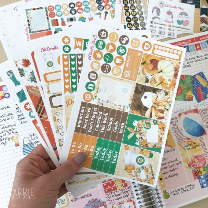 Oh Doodle Shop Planner Stickers