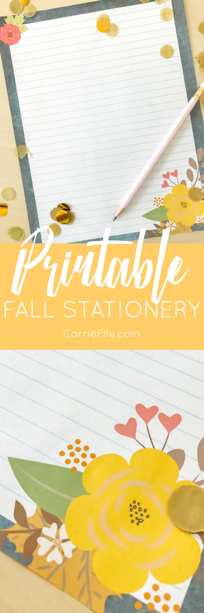 Printable Fall Stationery