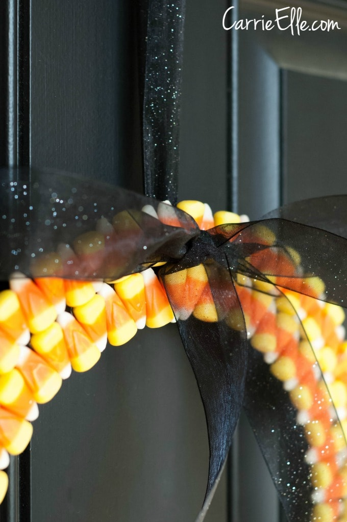 Candy Corn Wreath Bow