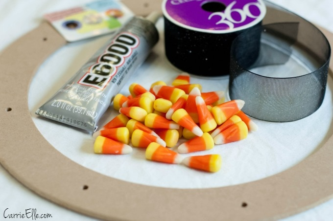 Candy Corn Wreath Pieces