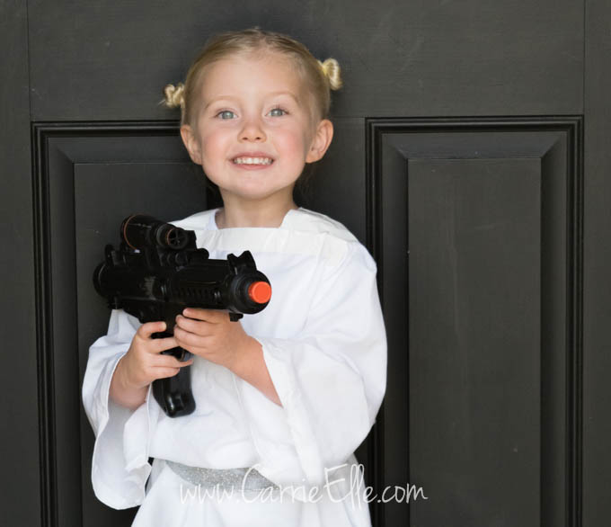 No Sew Diy Princess Leia Costume For Kids Carrie Elle
