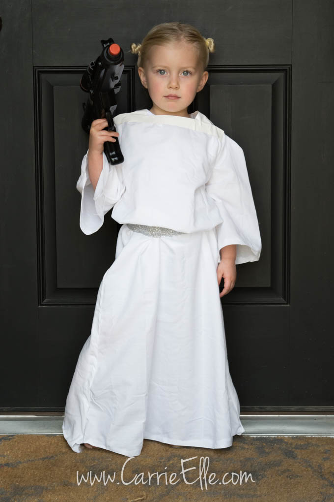 DIY Princess Leia ...  sc 1 st  Carrie Elle & No-Sew DIY Princess Leia Costume for Kids - Carrie Elle