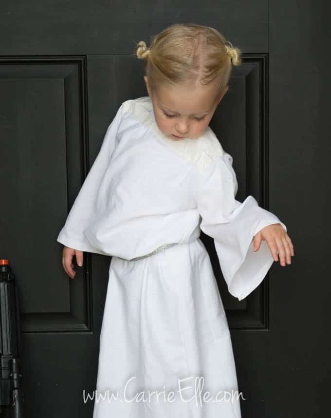 No-Sew DIY Princess Leia Costume for Kids - Carrie Elle