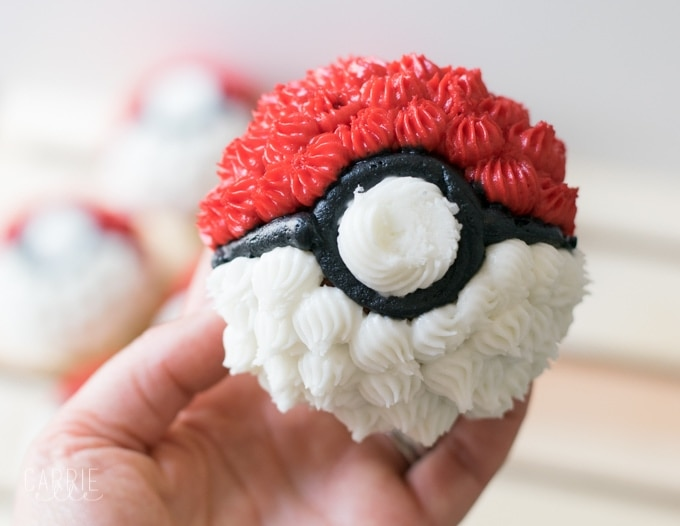 photograph about Pokemon Cupcake Toppers Printable identified as Uncomplicated Poké Ball Cupcakes and Printable Pokemon Cupcake