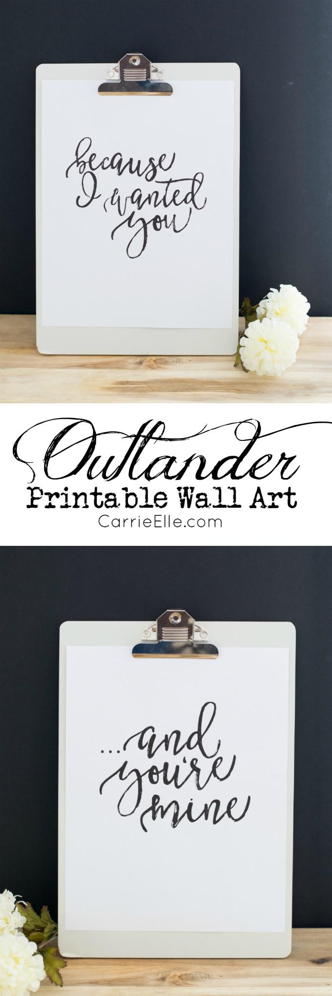 Outlander Printable Wall Art