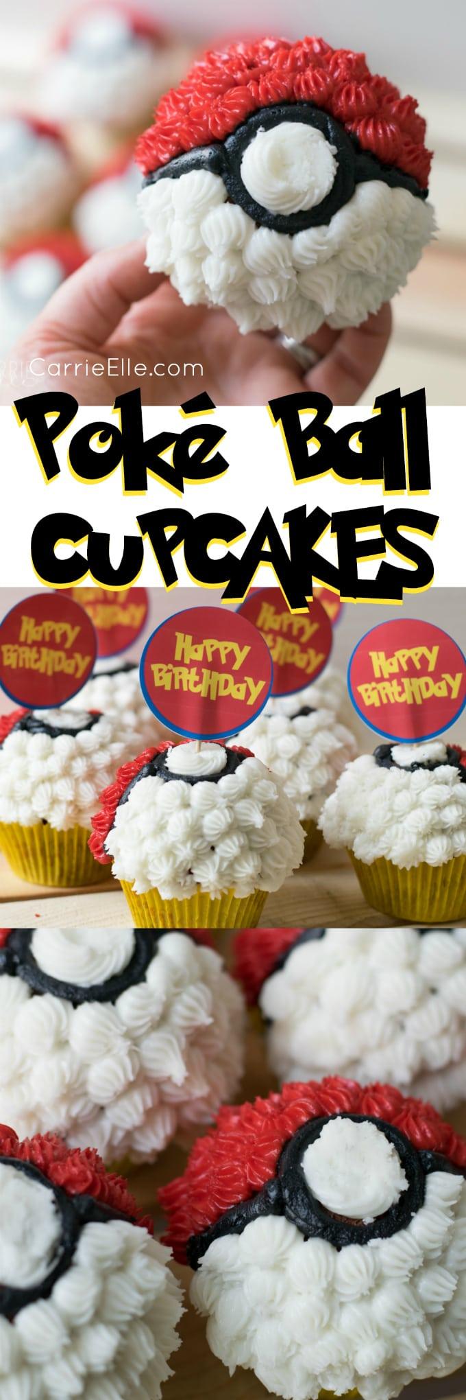 Poke Ball Cupcakes