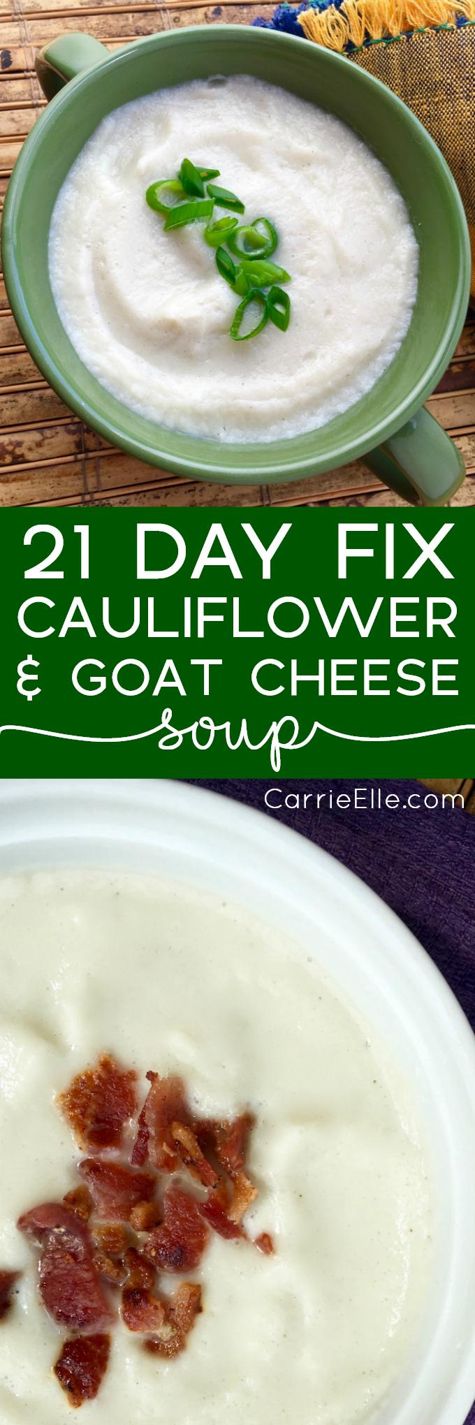 21 Day Fix Cauliflower Soup